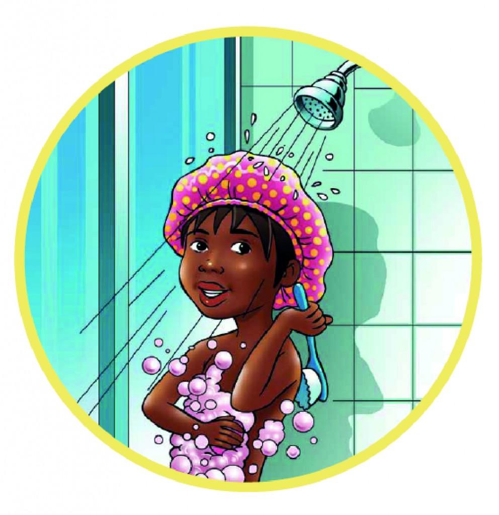 Sibo having a shorter shower